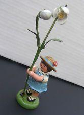 German Erzgebirge Folk Art Volkskunst FLower Girl Snow Bell ladybug Hubrig