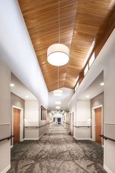 Maryville nursing home- corridor. maryville nursing home- corridor medical office design, healthcare Medical Office Design, Modern Office Design, Healthcare Design, Modern Offices, Commercial Interior Design, Commercial Interiors, Modern Interior, Office Office, Gros Morne