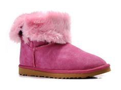 Pink Raspberry Rose Bailey Button Uggs