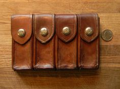 Vintage Leather Belt Pouch Great for by CuriosityShopper on Etsy