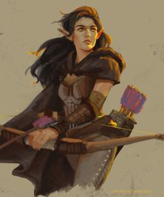 "page10art: "" Celaena Ravaceran Character request - Elven ranger """