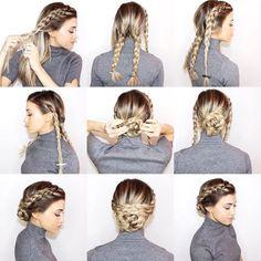 "@blohaute on Instagram: ""Olivia Wilde's Braided Upstyle  full tutorial on @desireehartsock_com  #blohautestyle"""