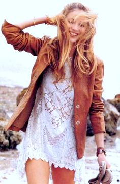 Bohemian style.- leather and lace