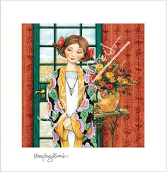 """Girl Waiting"" Limited Edition Print – Mary Engelbreit Studios"
