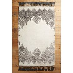 Anthropologie Adalet Rug ($698) ❤ liked on Polyvore featuring home, rugs, ivory, anthropologie, moroccan style rugs, fringe rug, anthropologie rugs and beige rugs