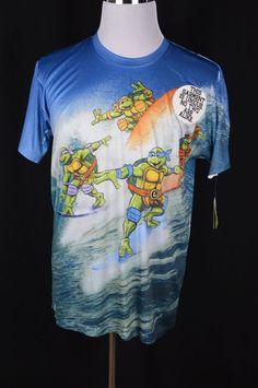 Armpit to Armpit - Material - Polyester. Teenage Mutant Ninja Turtles, Tmnt, Mens Xl, Graphic Tees, Retro, Surfing, Mens Tops, T Shirt, Crew Neck