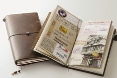 Traveler's Notebook from Midori – now available at Jenni Bick Custom Journals