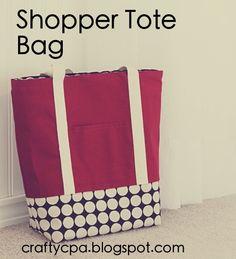 645 workshop by the crafty cpa: return on creativity: shopper tote bag