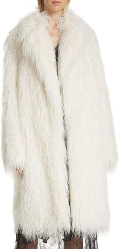 2c35d70c3778 Robert Rodriguez Mongolian Faux Fur Coat Fur Coat, Fur Jacket, Rocker Chic,  Shaggy