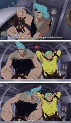 Roronoa Zoro Franky Strawhat Pirates Mugiwaras One Piece One Piece Manga, One Piece Meme, One Piece Comic, One Piece Funny, Zoro One Piece, Monkey D Luffy, Manga Anime, Manga Girl, Anime Girls