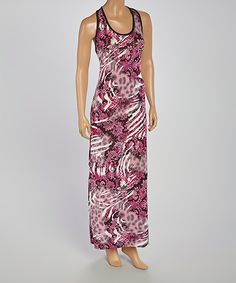 Look at this All Fashion USA Pink Ikat Racerback Maxi Dress on #zulily today!