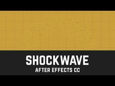 T015 How to make a SHOCK WAVE in After Effects - YouTube