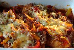 Cigány szelet Meat Recipes, Recipies, Hungarian Recipes, Baked Potato, Mashed Potatoes, Cauliflower, Macaroni And Cheese, Pork, Beef