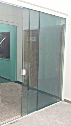 Glass Garage Door, Sliding Glass Door, Balcony Railing Design, Balcony Doors, Tempered Glass Door, Glass Extension, House Entrance, Glass Design, New Homes