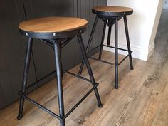 Our Steel Magnolias Bistro stools in the Pewter colour finish - with thanks to Treyone Kitchens :) Steel Magnolias, Pewter Color, Quality Kitchens, Truro, Steel Frame, Cornwall, Bar Stools, Solid Wood, Chair