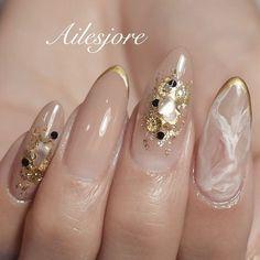 80 ideas to create the best Halloween nail decoration - My Nails Almond Acrylic Nails, Summer Acrylic Nails, Bridal Nails, Wedding Nails, Nail Art Designs Videos, Nail Designs, Cute Nails, Pretty Nails, Asian Nails