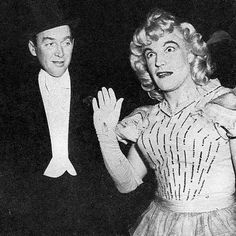 Gene Kelly as a rather unattractive woman. Is that Jimmy Stewart looking askance?