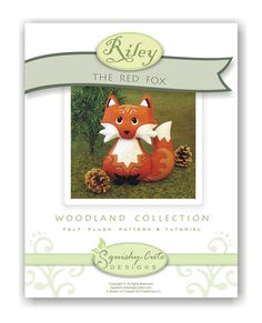 GIVEAWAY - Red Fox Sewing Pattern PDF - Woodland Stuffed Animal Felt Plushie - Riley the Red Fox. $5.00, via Etsy.