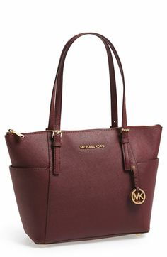 MICHAEL Michael Kors 'Jet Set' Leather Tote | Nordstrom