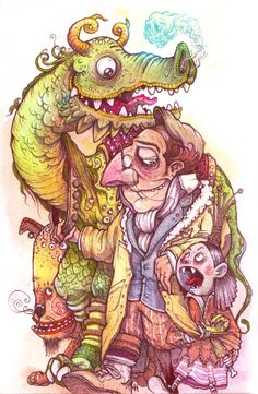 Monstruo Princesa by David Habben, via Behance
