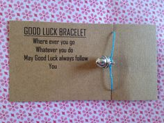 Check out this item in my Etsy shop https://www.etsy.com/listing/223698695/good-luck-bracelet