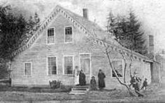 """David Swinson """"Doc"""" Maynard residence in West Seattle is the oldest structure in the area.Vermont born(1808). He enjoyed a successful career as a Dr & operator of a medical school in Ohio until the financial panic of 1837 swept everything away. After doing his best to repay debt, Maynard said goodbye to his wife Lydia & 2 children, joining the migration to CA. His wife's supposed unfaithfulness may have spurred the move as well."""