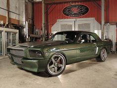 """Kevin Tetz's awesome supercharged '66 Ford Mustang (""""Jaded"""") on Forgeline CF3C wheels and Schwartz Performance chassis is for sale at eBay. http://www.ebay.com/itm/Ford-Mustang-SEMA-Show-Car-1966-pro-touring-mustang-coupe-custom-500-hp-jaded-2012-sema-show-car-/141525422159?forcerrptr=true&hash=item20f392904f&item=141525422159&pt=US_Cars_Trucks"""