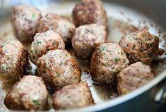 """REAL Italian meatballs. The best & only way a """"real"""" meatball should be made. YUMMY!"""