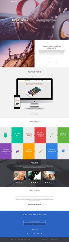 Homepage - Free Responsive Website PSD Template