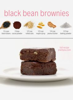 Get ready to whip up this healthy vegan brownie made of black beans! You will have no idea that this recipe is made with black beans. Serve this for a delicious vegan dessert or plant-based snack! Healthy Vegan Brownies, Healthy Vegan Desserts, Vegan Dessert Recipes, Vegan Sweets, Whole Food Recipes, Snack Recipes, Healthy Recipes, Vegan Baking, Healthy Baking