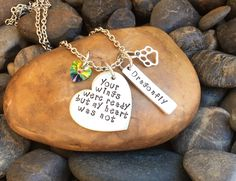 """Your Wings Were Ready But My Heart Was Not Pet Memorial Necklace 