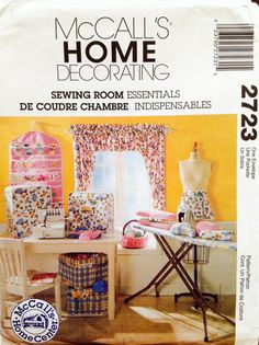 FOR THE SEWING ROOM: Uncut McCall's Home Decorating 2723 Sewing Room by Lonestarblondie, $6.00