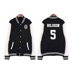 Topp Dogg Hojoon 5 Hip-Hop Boy Group K-Pop Varsity Baseball Jacket  #ToppDogg #Hojoon #5 #HipHop #Boy #Group #KPop #Varsity #Baseball #Jacket
