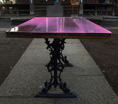 Colored epoxy resin to protect Ikea tabletops would be cool!