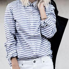 Make a bold statement this fall with horizontal stripes.   Banana Republic