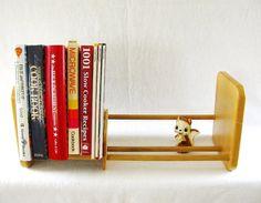 Vintage Wood Tabletop Bookshelf Desktop Bookshelf Adjustable Book Rack Vintage…