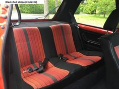 "MK1 Golf GTI ""Campaign"" edition Black red stripe interior"