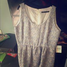 Zara basic collection dress Nwt beige blue zara dress too small for me Zara Dresses