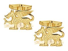 076674 - 9ct gold dragon cufflinks @ £199