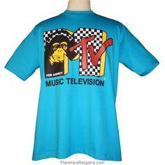 Music Television For Monkey MTV Shirt $19.99