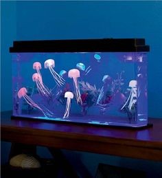 Giant (artificial/fake/) Faux Jellyfish Aquarium with Color-Changing LED Lights - So cool!