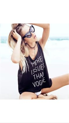 Black More Issues Than Vogue Tank
