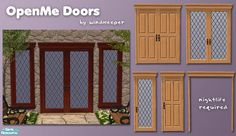 http://thesimsresource.com/artists/Windkeeper/downloads/details/category/sims2-sets-objects/title/openme-doors/id/603409/