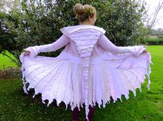 Fairy coat. Rolled hem w/ stitch differential - fun crinkles!