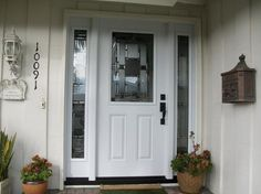 "White Entry Doors 8' x 6'8"" custom mahogany entry door with a 42"" door and double"