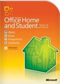 MS OFFICE 2010 HOME & STUDENT32-BIT/X64 ENGLISH INTL DVD (RETAIL BOX)