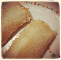 #KrikaGourmet apresenta: rolinho primavera feito na Air Fryer... recheios variados... com salmão ou queijo branco com peito de peru!