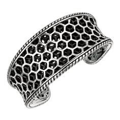 Classic Two-Tone Cuff Piece Is Rhodium Plated Sterling Silver .925 Bangle Bracelet Deana Dean. $249.99. Sterling Silver. Cuff Bangle. rhodium plated. Silver Cuff Bracelet. Two-Tone