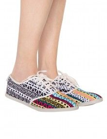 Dolce Vita Print Canvas Sneakers - Cute Summer Sneakers - $44-Pixie Market