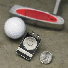 No more digging in your pockets for your ball marker. Our personalized, State Quarter ball marker/belt clip is a unique golf gift with style and personality. Constructed of sturdy stainless steel, the state quarter of your choice is permanently attached t Golf Gifts For Men, Gifts For Golfers, Gifts For Him, Engraved Gifts, Personalized Gifts, Golf Ball Crafts, Unique Anniversary Gifts, Perfect Golf, Golf Fashion